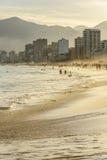 Ipanema beach. Sunset on the beach in Ipanema, Rio de Janeiro Stock Images
