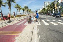 Ipanema Beach Vendor Bike Path Rio de Janeiro Brazil Royalty Free Stock Photos