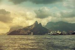 Ipanema Beach withDois Irmaos Mountains, Rio De Janeiro Stock Photography