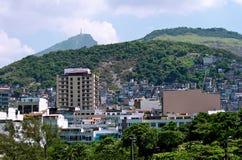 Ipanema, Corcovado e favela em Rio de Ja Fotos de Stock Royalty Free