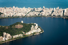 Ipanema and Lagoa From Above Stock Photography