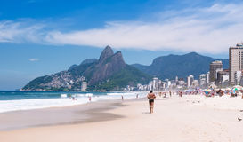 Ipanema, Leblon and the Mountain Dois Irmao in Rio de Janeiro Stock Photo