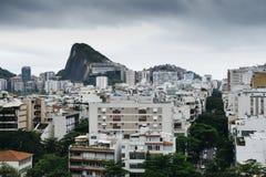 Aerial view of Ipanema district, Rio de Janeiro royalty free stock photography