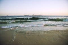 Ipanema plaży Rio De Janeiro Brazylia Sceniczne wyspy Zdjęcie Royalty Free