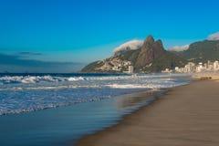 Ipanema plaży widok w ranku, Rio De Janeiro, Brazylia Zdjęcia Royalty Free