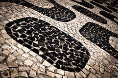 Ipanema Sidewalk Pattern Royalty Free Stock Images