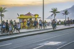 Ipanema Sidewalk Rio de Janeiro Brazil Stock Photo