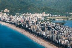 Ipanema strand av Rio de Janeiro Arkivbild