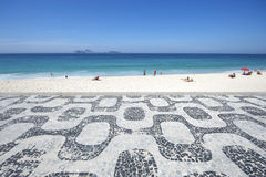 Ipanema strand Rio de Janeiro Boardwalk Sea View Arkivfoton