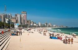 Ipanema strand, Rio de Janeiro, Brasilien Fotografering för Bildbyråer