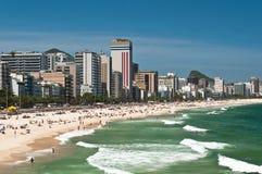 Ipanema strand, Rio de Janeiro, Brasilien Royaltyfri Foto