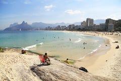 Ipanemastrand in Rio de Janeiro, Brazilië Royalty-vrije Stock Fotografie