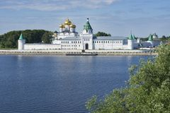 Ipatievsky修道院在Kostroma俄罗斯 库存照片