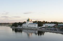 Ipatievsky monastery-fortress on Volga in a summer Royalty Free Stock Images