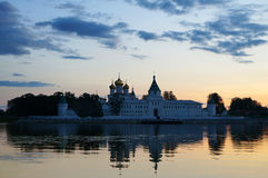 Ipatievsky monastery in Russia, Kostroma, sunset Royalty Free Stock Photos
