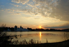 Ipatievsky monastery in Russia, Kostroma, sunset Royalty Free Stock Photo