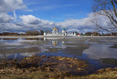 Ipatievsky monastery, spring river landscape Royalty Free Stock Images