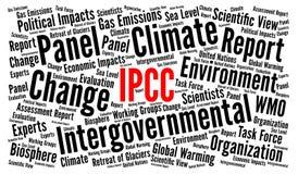 IPCC-Wort-Wolkenillustration stock abbildung