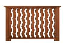 Ipe ξύλινο κιγκλίδωμα με τα ξύλινα κάγγελα Στοκ Φωτογραφία