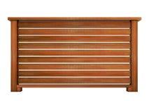 Ipe ξύλινο κιγκλίδωμα με την ξύλινη τρισδιάστατη απόδοση κάγγελων Στοκ Εικόνες