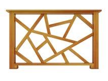 Ipe ξύλινο κιγκλίδωμα σχεδίου Στοκ Εικόνες