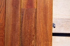 Ipe decking deck wood installation clips fasteners Stock Photography
