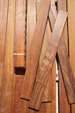 Ipe decking deck wood installation clips fasteners Stock Images