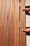 Ipe decking pokładu klamerek drewniane instalacyjne skowy Zdjęcie Royalty Free