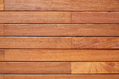 Ipe teak wood decking fence pattern Royalty Free Stock Image