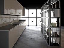 Iper cucina moderna Fotografia Stock Libera da Diritti