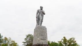 Iper intervallo del monumento di Taras Shevchenko nel parco video d archivio