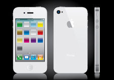 iphone白色 库存照片