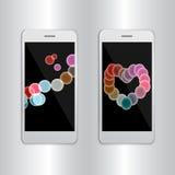 IPhone 7 αφηρημένο υπόβαθρο εμβλημάτων παρουσίασης διανυσματική απεικόνιση