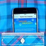IPhone 6 που επιδεικνύει το κατάστημα της Apple Στοκ εικόνες με δικαίωμα ελεύθερης χρήσης