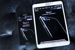 Iphone 7 στην επίσημη αρχική σελίδα μήλων Στοκ Εικόνες