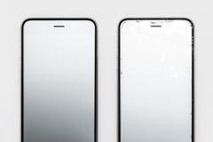 IPhone 6个Plus/6s加上在白色的背面图 免版税库存照片