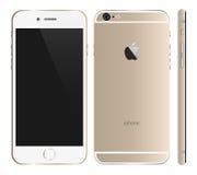 Iphone 6金子 库存照片