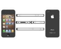 IPhone 4 Fotografía de archivo libre de regalías
