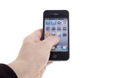 iphone 4 μήλων νέο Στοκ φωτογραφία με δικαίωμα ελεύθερης χρήσης