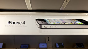 IPhone 4, Apple Store Foto de Stock Royalty Free