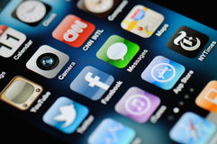 IPhone 4 Apps Stock Image