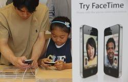IPhone 4 auf Verkauf Stockbild