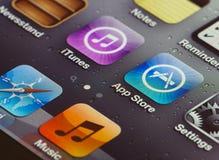 Iphone 4 het aanrakingsscherm Royalty-vrije Stock Afbeelding
