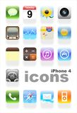 IPhone 4 icons. On the white background Royalty Free Stock Images