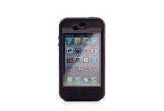 iPhone 4 van de appel in Otterbox Royalty-vrije Stock Foto's