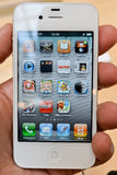 Iphone 4 Wit Royalty-vrije Stock Foto