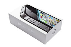 IPhone 4s Box. Isioated on white background Royalty Free Stock Image