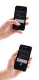IPhone 4s com Siri Foto de Stock Royalty Free