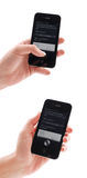 IPhone 4s con Siri Foto de archivo libre de regalías