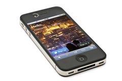 iPhone 4s de Apple e twiiter fotografia de stock royalty free